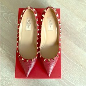 Red Valentino Rockstud Pointy Toe Pumps